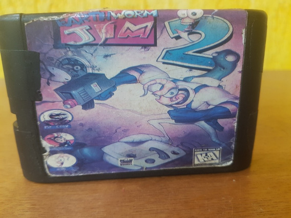 Earth Worm Jim 2 Genérica Usada Áudio Legendas Usa Mega D