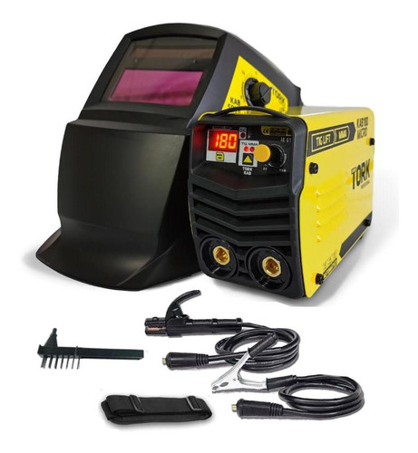 Máquina Solda Inversora 180 220v Kab180 Cim6180 Tork+máscara