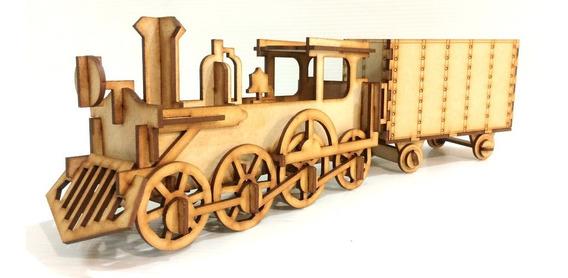 Tren Locomotora Dulcero Mdf Centro Mesa Fiesta Infantil