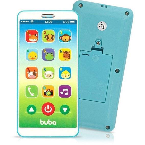Celular Infantil Baby Phone - Azul - Buba + Envio Rápido