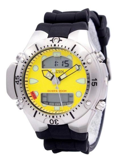 Relógio Citizen Aqualand Masculino Amarelo Jp1060-01x