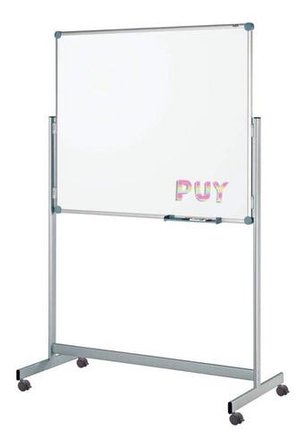 Pizarra Blanca Móvil Magnetica 120x200 Con Accesorios