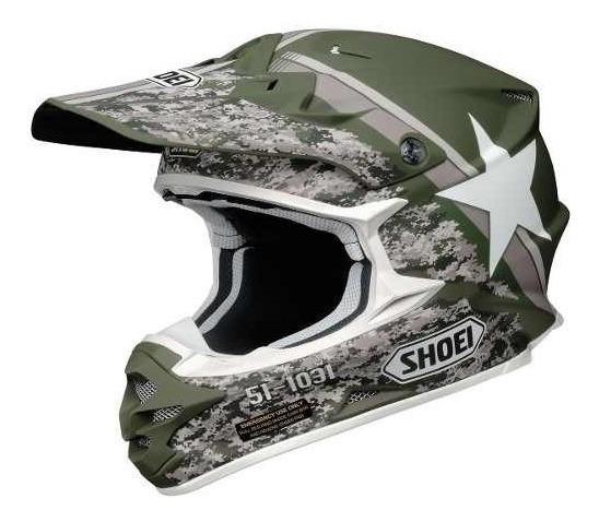 Casco Motocross Shoei Vfx-w Super Hue Tc-4 Verde/blanco