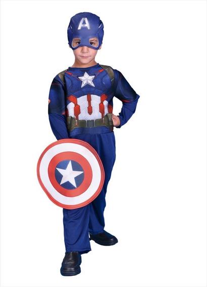 Disfraz Capitan America Vengadores Marvel Original New Toys