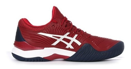 Tênis Asics Court Ff Novak Cor Burgundy/white - All Court