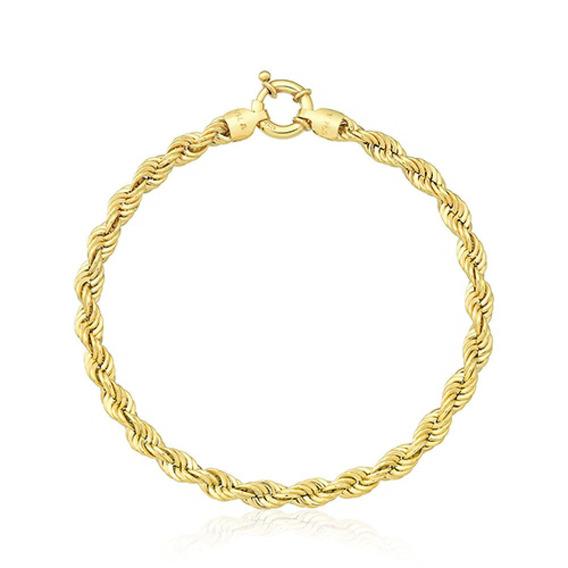 Pulseira Cordão Em Ouro 18k - Ov/1019