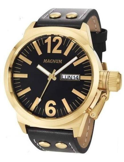 Relógio Magnum Original Pulseira Em Couro Ma31524u - Nfe
