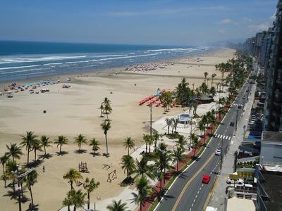 Kitão Em Frente Praia - Vila Guilhermina-praia Grande-sp