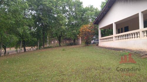 Chácara Com 2 Dormitórios À Venda, 1400 M² Por R$ 370.000,00 - Bosque Dos Ipês - Americana/sp - Ch0127