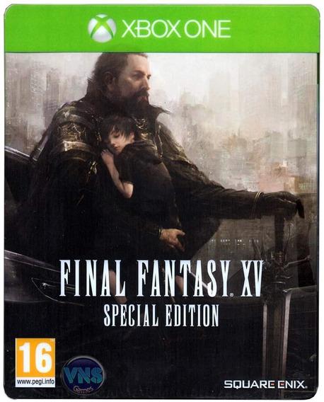 Final Fantasy Xv 15 Xbox One Mídia Física Novo Case De Metal