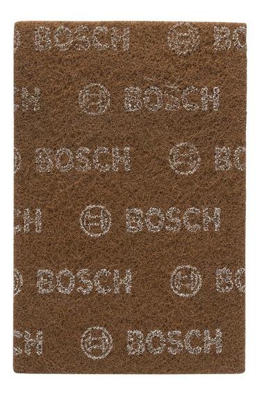 Paño Abrasivo Para Acabado Rustico Grano Grueso Bosch Marron