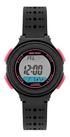 Relógio Mormaii Infantil Wave Mo0974b/8t Preto Rosa Digital
