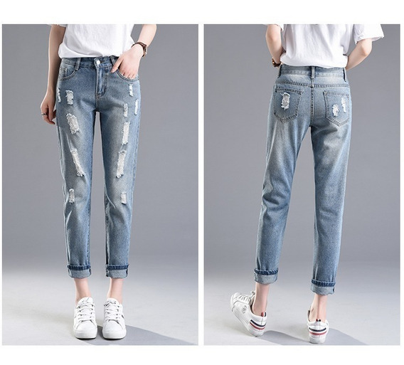 Pantalones Sueltos Para Chicas Jeans Mujer Mercadolibre Com Pe