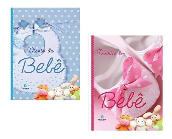 4 Diários Album Do Bebê Anotações E Fotos 2 Rosas 2 Azuis