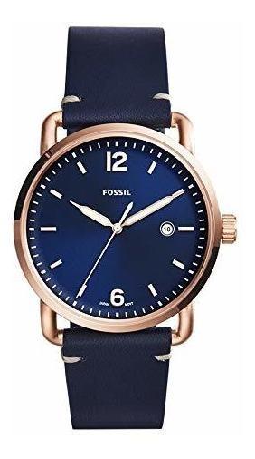 Reloj Fossil Correa Cuero Azul