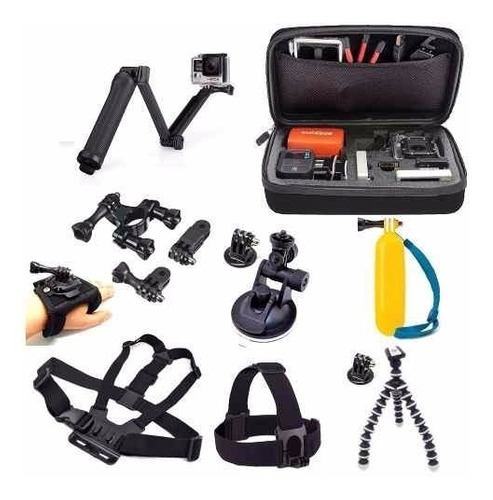 Conjunto Com Acessórios Gopro Hero Kit Go Pro 4 5 6 7 Black