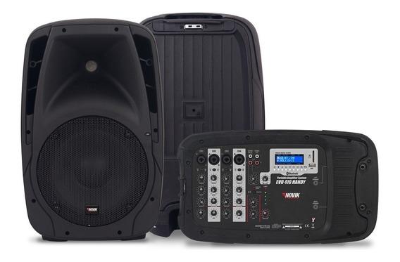 Kit Caixa De Som + Mesa Novik Evo 410 Handy C/ Microfone