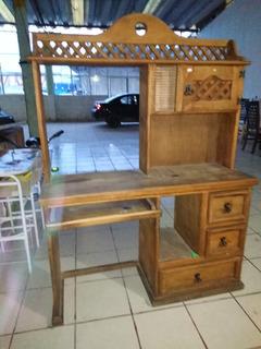 Mueble Rústico De Madera Para Computadora