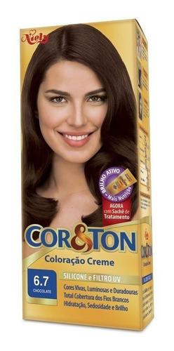 Tintura Creme Cor & Ton Chocolate 6.7
