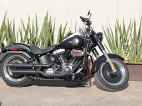 Harley Fatboy Lo Casi Nueva Menos De 5,000 Kms. Equipo Adic.