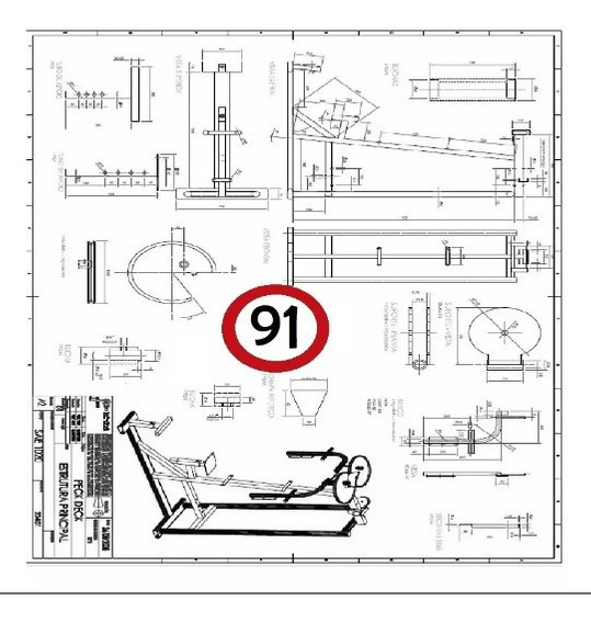 91 Planos Para Fabricar Aparatos / Maquinas De Gimnasio