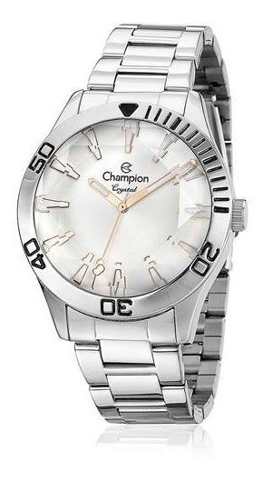 Relógio Feminino Champion Crystal Analógico Cn27214q Aço