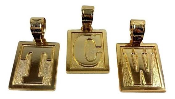Pingente Letra Do A - Z Ostentação Banho Ouro Garantia 1 Ano
