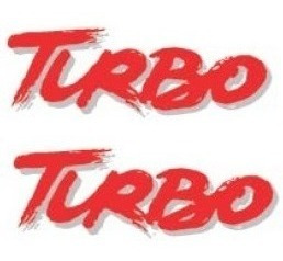 Kit Dois Adesivos Turbo Lateral Vermelho Uno Turbo + Brinde