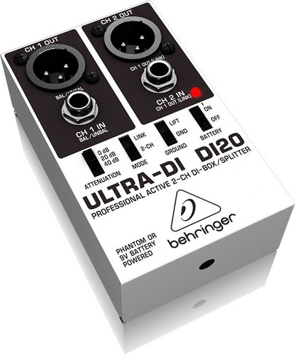 Caja Directa Behringer Ultra Di Di20 Activa 2 Canales