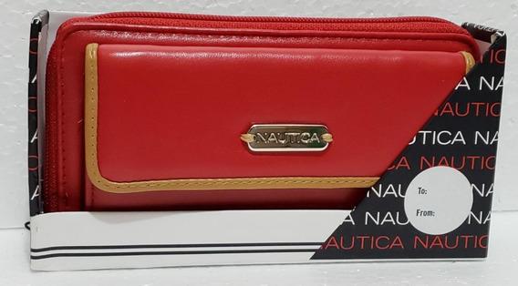 Carteira Feminina Importada Nautica Original Vermelha