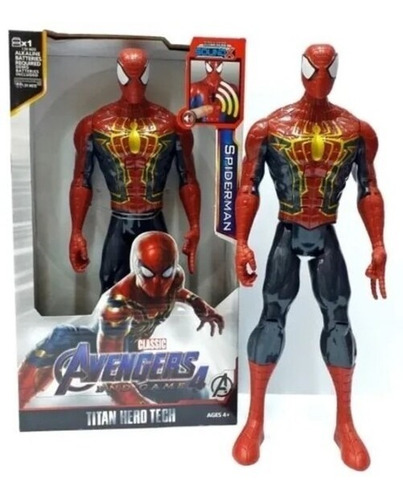 Spiderman, Capitán America, Hulk, Articulado 30 Cm Sound Luz