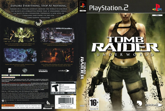 Tomb Raider Underworld Em Português Playstation 2 Play 2 Ps2