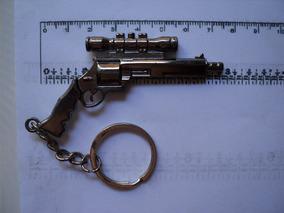 Chaveiro Modelo Revolver Tipo 38 Com Mira - Grande
