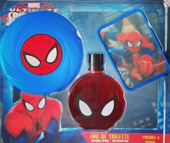 Spiderman Ultimate Set De Colonia 100% Original
