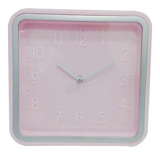 Reloj De Pared Cuadrado 27 Cm