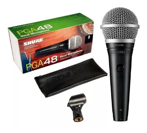 Microfone Shure Pga48 Lc Original Nota Fiscal E Garantia