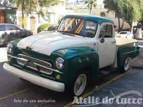Pick Up Chevrolet Brasil 1962 Toda Original Placa Preta -