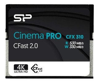Cartao Memoria Silicon Power 256gb Cfx310 Cfast 2.0 Lacrado
