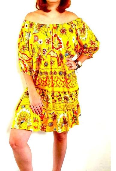 Lindo Vestido De Viscose Estampado (cod 367)