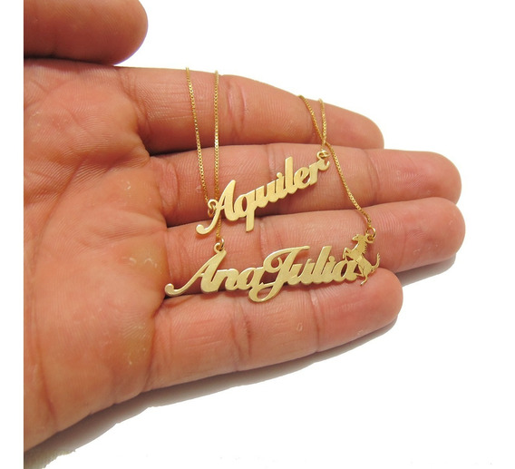 Cordão Com Nome Feminino Personalizado Banhado A Ouro 18k