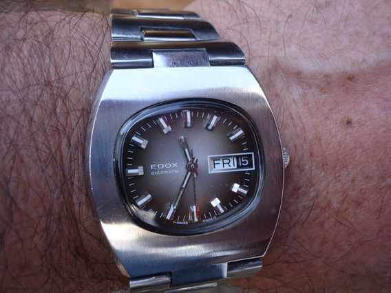 Patacão Relógio Edox Não Orient Antigo Automático Masculino
