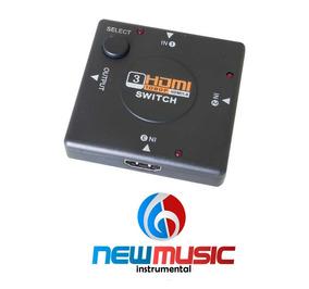 Switch Hdmi 1.4 3 Em 1 X Cell #3210