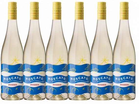 Vino De Aguja Blanco Moscato Mediterráneo Pinord 6 Pz* (f)