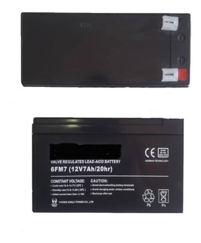 Imagen 1 de 2 de Batería Pila Ups 12v 7.5ah Alarma Cerco Electrico