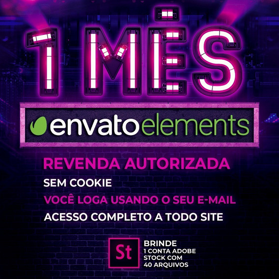 1 Mês De Elements Envato - 100% Do Site