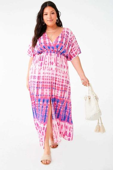 Vestido Batick Tie-dye Maxi Dress Forever 21 Talle 3x