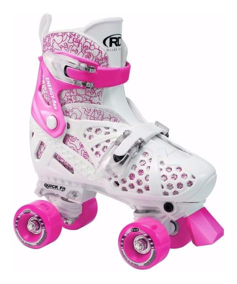 Patines Roller Derby Originales Niñas Ajustables En 4 Tallas