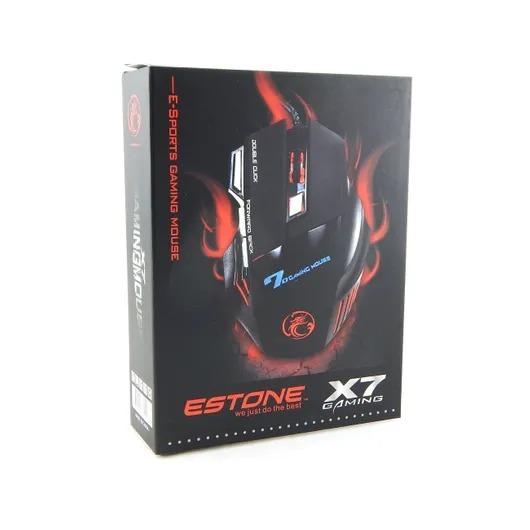 Mouse Óptico Estone Gaming X7 3200dpi Usb Com 7 Botões E Led
