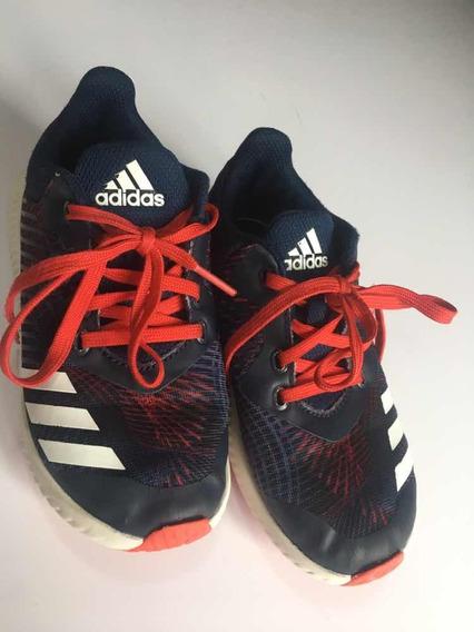 Tênis adidas Us 11 K Brasil 27 Marinho E Vermelho Menino