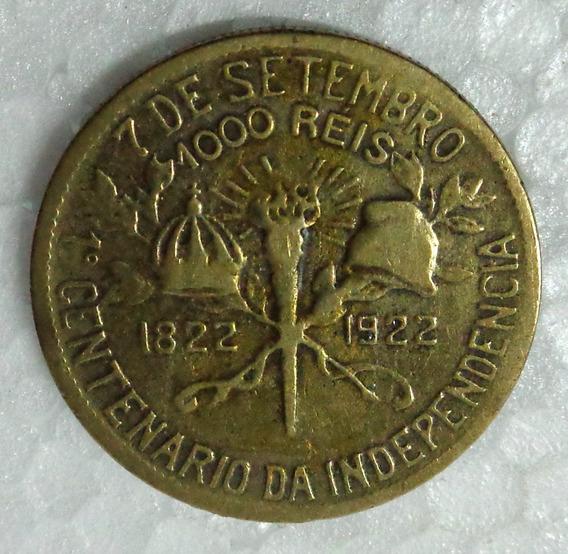 Moeda 1000 Réis Centenário Da Independência 1822-1922